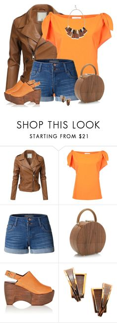 """""""Wood-stock"""" by csilla06 ❤ liked on Polyvore featuring Le Ciel Bleu, LE3NO, BUwood, Simon Miller, Renoir and Warehouse"""