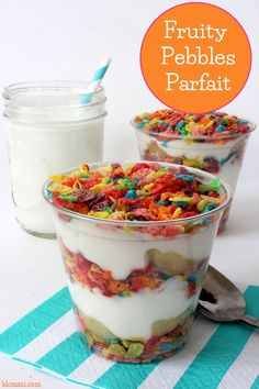 Fruity Pebbles Breakfast Parfait