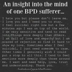 An Insight Into Living With Borderline Personality Disorder.Instead of Judging those With Mental Illness.Let's try to understand, help kill the stigma, and raise Awareness! Bpd Quotes, Bipolar Quotes, Bipolar Disorder Quotes, Victim Quotes, Poetry Quotes, Life Quotes, Mental Disorders, Anxiety Disorder, Bpd Disorder