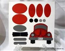 Punch Art Stampin Up - Car Very creative use of basic punches