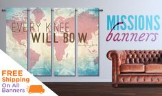 Global outreach mission banner designs and images. Free to customize for your church! Church Lobby, Church Foyer, Church Stage, Church Interior Design, Church Design, Kids Church Rooms, Conference Themes, Church Outreach, Fundraiser Party