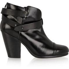 Rag & bone Harrow glossed-leather ankle boots