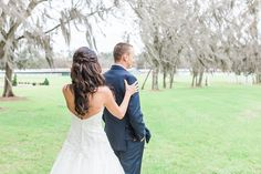 Bride & Groom Photography at Plantation Oaks Farms in Callahan, Fl. By The Copper Lens Photography Co. | Wedding Dress | Barn Wedding | Rustic | Elegant Wedding Photography | First Look | Bridal | Portraits