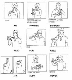 Basic Sign vocabulary in ASL for family members. Good for