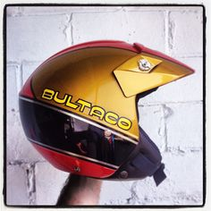 """#bultaco aniversario #50 years. #helmetdesign #gold #trial #helmet"" Photo taken by @magaropaintings on Instagram, pinned via the InstaPin iOS App! http://www.instapinapp.com (04/14/2013)"