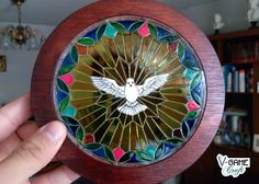 Stained glass window reminder of baptism of the Holy Spirit by VGameCraft on Etsy https://www.etsy.com/listing/208448572/stained-glass-window-reminder-of-baptism