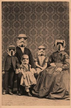 Stormtrooper family- I really would love to have this hanging in a grouping of old family photos