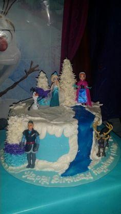 Kaydence & Chloe's Disney Frozen Birthday Cake