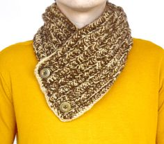 Mens scarf Crocheted Winter scarf Mens winter by MellyBoutique