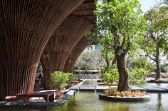 Kontum Indochine Café by Vo Trong Nghia Architects (Vietnam, 2013)