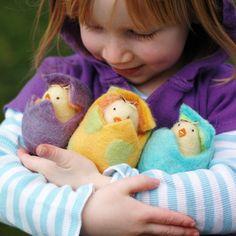 Easter Chick in an Aqua Egg. $24,00, via Etsy.
