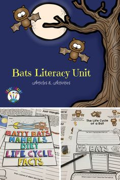 Your students will go batty for this creative hands-on resource! This non-fiction unit focuses on 1st and 2nd Grade Common Core ELA Standards with lots of fun activities that are perfect for interactive notebooks, too! It also includes the Life Cycle of a Bat and a Bat Flip Book!