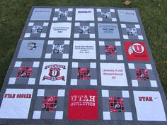 DEPOSIT ONLY-Custom Made T-shirt Quilt by PeachesandCreme on Etsy