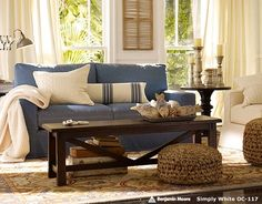 Beau Catalog Living Denim Couch, Living Room Sofa, Living Area, Living Room  Furniture,