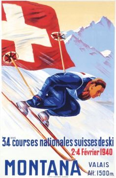 Montana - 34ème courses nationales suisses de ski - 1940 -