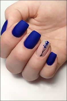 black nails design ideas 2019 acrylic, coffin, polish, matte and manicur methods – page 9 Related Black Nail Designs, Gel Nail Designs, Nails Design, Blue Nails, My Nails, Nail Art Blue, Manicure, Natural Gel Nails, Cute Spring Nails
