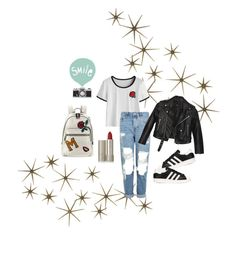 """""""Trending Item: Marc Jacobs MJ Collage Biker Leather Backpack"""" by stunningly-beyoutiful ❤ liked on Polyvore featuring Global Views, Marc Jacobs, Topshop, adidas Originals, Nasty Gal, Ilia and Seventy Tree"""