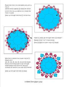 Bead Mavens: Tutorial Ponduo Stitch Bracelet schema 6