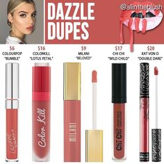 Best Ideas For Makeup Tutorials : Kylie Jenner lip kit dupes for Kristen Kylie Dupes, Kylie Lip Kit Dupe, Kylie Jenner Lip Kit, Kylie Jenner Lipstick Dupes, Kylie Jay, Kendall Jenner, Double Dare, Makeup To Buy, Lipsticks