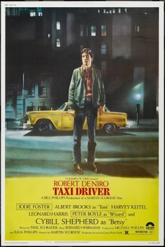 Taxi Driver movie poster designed by Guy Pellaert