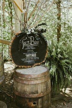 DIY Taco Bar at this southern wedding reception | Image by Stephanie Sorenson Photography