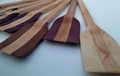Wooden Spatula Blond Maple Handle by SJWoodWorks on Etsy