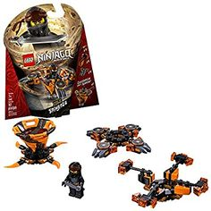 Amazon.com: LEGO NINJAGO Spinjitzu Cole 70662 Building Kit (117 Pieces): Toys & Games Ninjago Cole, Ninjago Dragon, Lego Ninjago Spinners, Ninjago Lego Sets, Katana, Ninjago Spinjitzu, Buy Lego, Lego Lego, Lego Batman
