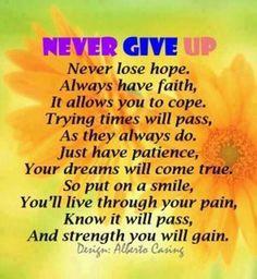 Never give up-Life with Fibromyalgia/ Chronic illness