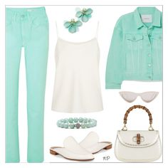 Green water by nuria-pellisa-salvado on Polyvore featuring moda, The Row, pushBUTTON, Gianvito Rossi, Gucci, Lagos, Kate Spade, CÉLINE, polyvorecommunity and polyvoreeditorial