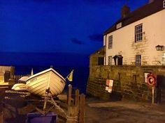 Harbour at Robin Hood's Bay by night