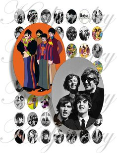 The Beatles 1 images 18x25mm oval images for charms door KoolJewelry