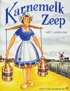 Old Dutch Advertising for Buttermilk Soap with Lanolin.( i've been in the actual factory in Haarlem , loooooong time ago ) Vintage Advertising Posters, Old Advertisements, Vintage Posters, Advertising Ideas, Vintage Labels, Vintage Cards, Retro Vintage, Wow Art, Souvenir