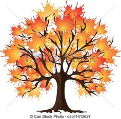 Clip Art of Art autumn tree Maple csp11412627 - Search Clipart ...