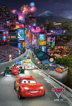 Pixar Disney Cars 2 movie Poster Type 3 8 1 2 X 11 Cars 2 Movie, Pixar Movies, Disney Movies, Movie Tv, Disney Pixar Cars, Walt Disney, Cars Characters, Car Posters, Cars 3 Poster