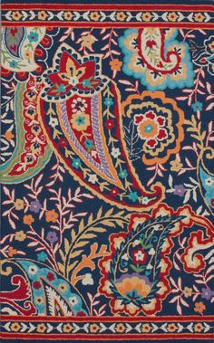 Rugs USA Tuscan Divine Paisley Multi Rug  Am I bold enough for this rug? Great designs for quilting!