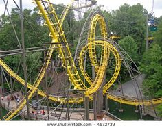 stock photo : roller coasters