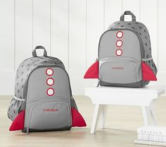 Mackenzie Critter Gray Rocket Backpack #pbkids