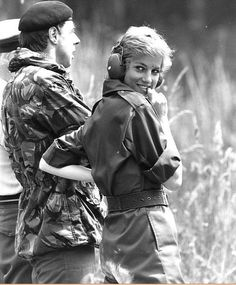 SHOOTING IN THE WILDERNESS.  I LOVE THE EXPRESSION ON DIANA'S FACE.