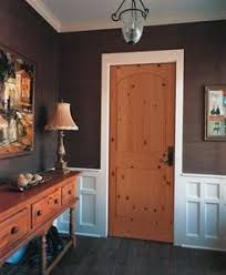 Image result for pine interior doors with white trim