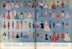 Barbie's entire wardrobe from 1963 could be purchased for $136, equivalent to just over $1,000 today.  (LIFE Magazine)