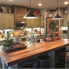 """1,362 Likes, 24 Comments - April  (@simplyinspireddesignswithapril) on Instagram: """"How cute is this kitchen, and that brick backsplash/wall.. wow I love it!!  ✨credit belongs to…"""""""