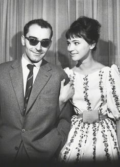 Jean-Luc Godard and Anna Karina at the Berlin International Film Festival, 1961.