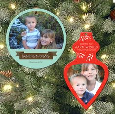 free printable lemon squeezy: Day 18: Photo Tree Ornaments download