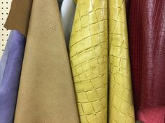 Fabrics can be made to look like leather with imprinting methods.