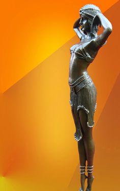 "ART DECO, CHIPARUS "" ILLUSION OF VIRTUE "", BRONZE STATUE FIGURE FIGURINE"