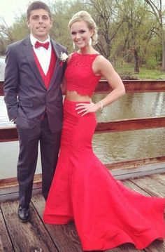 Red Two Piece prom Party Dresses 2016, Sexy 2016 Red Mermaid Prom Party Dresses for Women    dressywomen.com