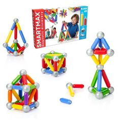 SmartMax Set – BASIC 42. Allows children to explore magnetism safely. The oversized pieces are specifically designed for handling by young kids as they learn about the effects of magnetic attraction and repulsion, while older children will have fun using the pieces to construct towers, bridges and other creations. More at http://suliaszone.com/smartmax-set-42/
