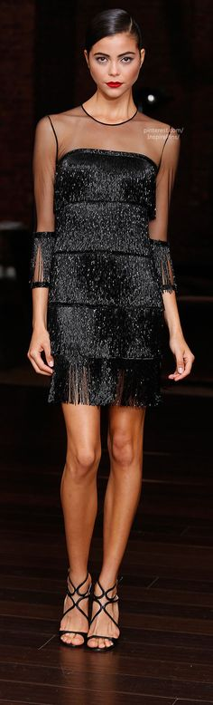 Resort 2014 Naeem Khan... wish it was in navy or vanilla or gun metal grey. And an inch or two longer.