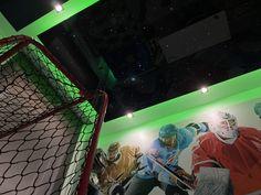 Children hockey room Hockey Room, Plasterboard, Ice Hockey, Ceilings, Children, Fun, Design, Young Children, Boys