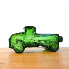 vintage avon bottle car green glass cologne bottles by thriftonica. $10.00, via Etsy.